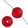 Polyester Beads 14mm Round Transparent Ruby Strung